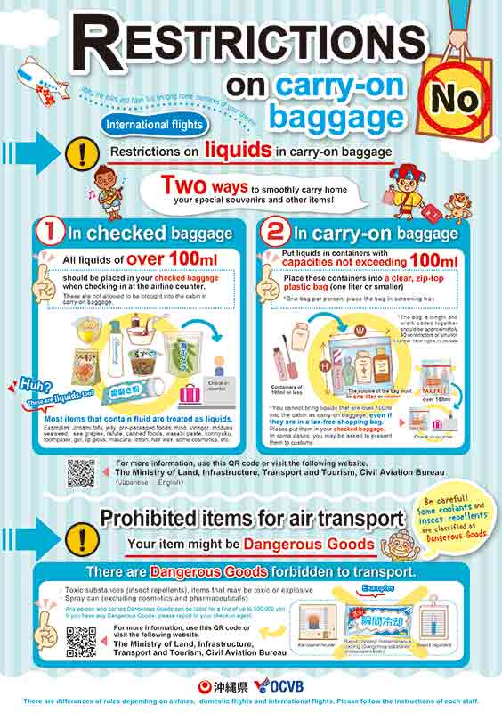 Restrictions on carry-on baggage